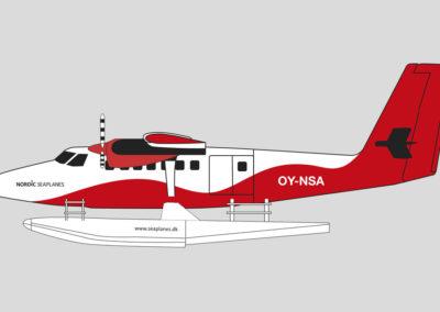 Design af Nordic Seaplanes flyver