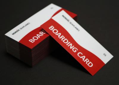 Boardingcard til Nordic Seaplanes