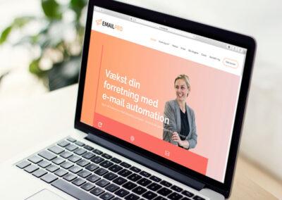 Hjemmeside til Emailpro
