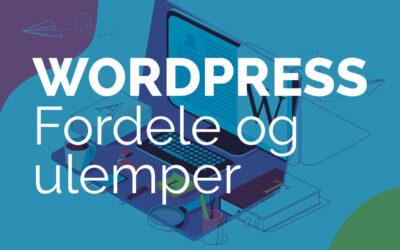 WordPress – Fordele og ulemper